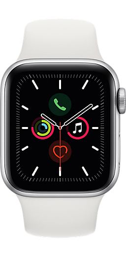 Previous Next Apple Watch Silver Aluminum Case with Sport Band