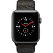 Apple Watch Series 3, 42mm Space Gray Aluminum Case with Black Sport Loop