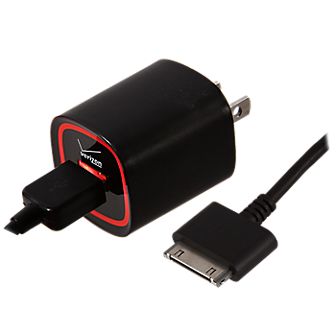 Rapid Wall Charger with 6 ft. Cable For iPod, iPhone and iPad