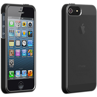 High Gloss Silicone Cover for Apple iPhone 5 - Black