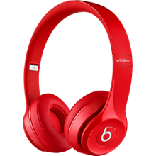 Solo2 Wireless On-Ear Headphones - Red