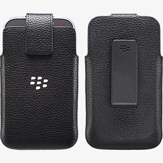 Leather Swivel Holster for Blackberry Classic - Black