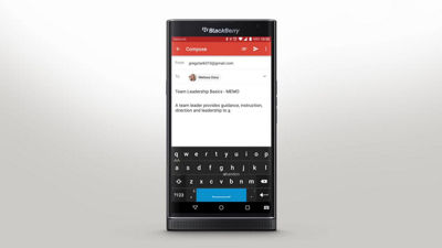 Using the Keyboard on Your PRIV by BlackBerry