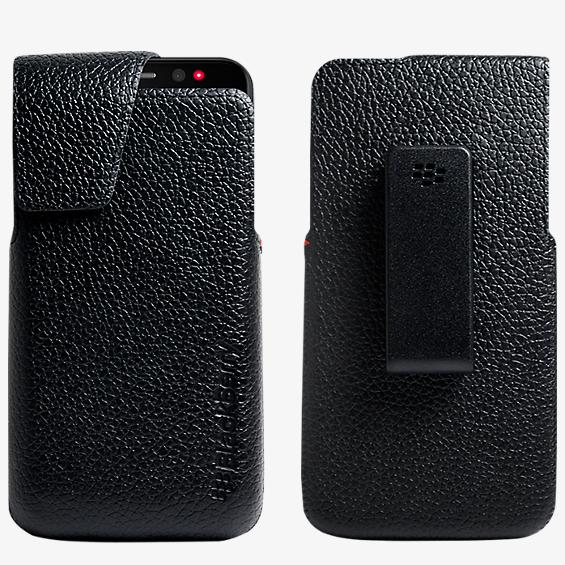 Leather Swivel Holster for BlackBerry Z30 - Black