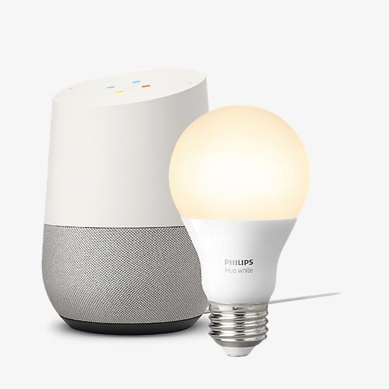 Google Home and Hue White Starter Kit Bundle