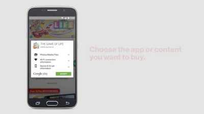 Making an app or content purchase using your Verizon Wireless Account