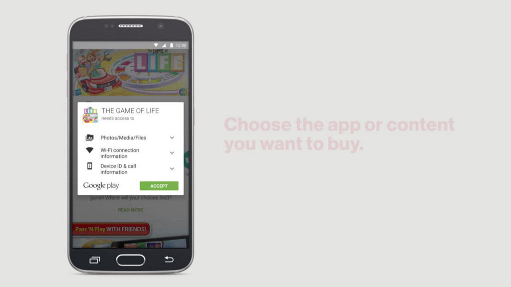 Making an app or content purchase using your Verizon