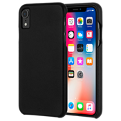 Barely There Leather Case for iPhone XR - Black