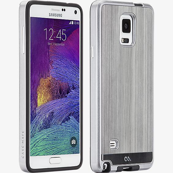 Brushed Aluminum for Samsung Galaxy Note 4 - Gunmetal