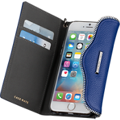 Leather Folio Wristlet for iPhone 6/6s  - Cobalt
