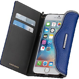 Leather Folio Wristlet for iPhone 6 Plus/6s Plus - Cobalt