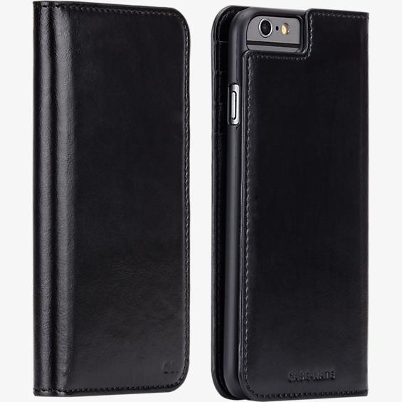 Leather Wallet Folio for iPhone 6/6s - Black