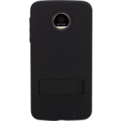 Tough Case with Stand for Moto Z Force Droid - Black