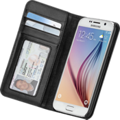 Wallet Folio for Samsung Galaxy S 6 - Black
