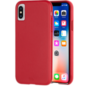 Barely There Leather Case for iPhone XS/X - Cardinal