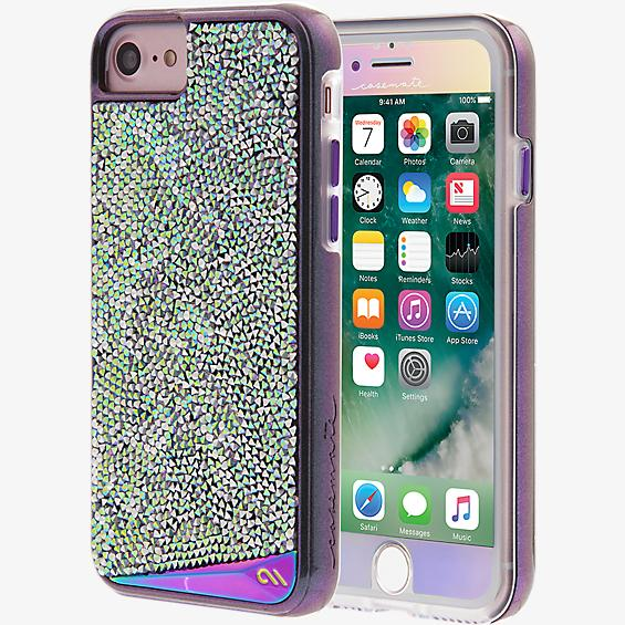 Iridescent Case and Glass Screen Protector Bundle for iPhone 7/6s/6