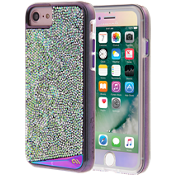 Iridescent Case and Gilded Glass Iridescent Screen Protector for iPhone 7/6s/6