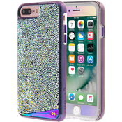 Iridescent Case and Glass Screen Protector Bundle for iPhone 7 Plus/6s Plus/6 Plus