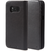 Leather Wallet Case for Galaxy S8 - Black