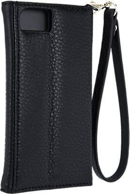 new arrivals 14b88 47c2f Leather Wristlet Folio Case for iPhone 7