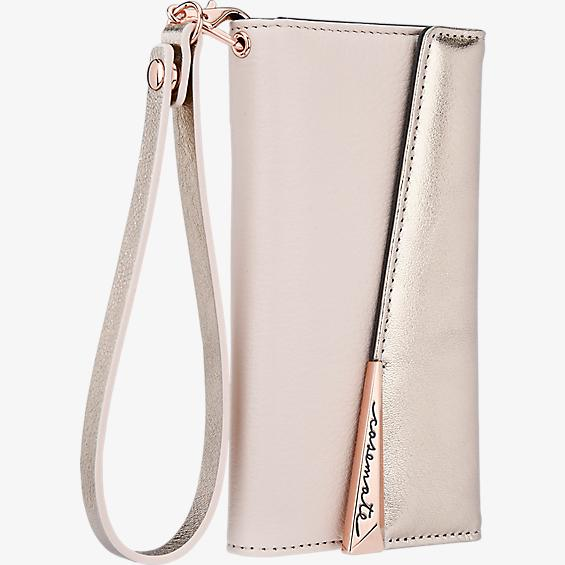Leather Wristlet Folio Case for iPhone 7