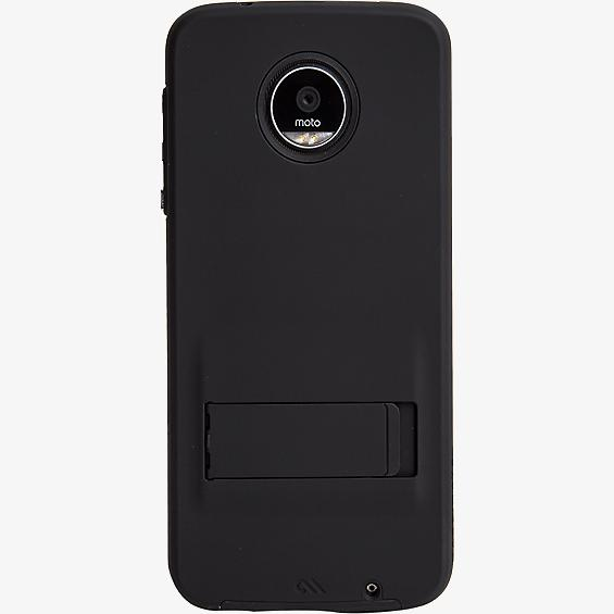 Tough Case with Stand for Moto Z Play Droid - Black