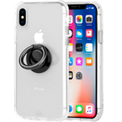 Tough Clear Case & Black Ring Bundle for iPhone XS/X