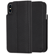 Wallet Folio Case for iPhone XS/X - Black