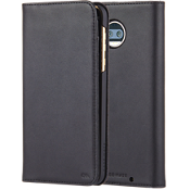 Wallet Folio Case for moto z2 force edition - Black