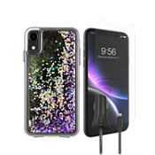 Case-Mate Waterfall Case, Protection & Car Charging Bundle for iPhone XR