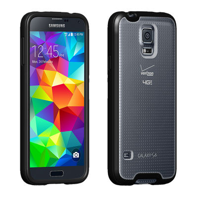 Verizon Clear Shell with Black Edge for Galaxy S 5
