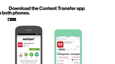 Use the Content Transfer app to move your content from your old phone to your new phone