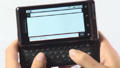DROID 2 Global by Motorola Texting and Typing