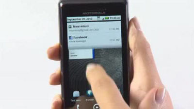 DROID 2 Global by Motorola Viewing Attachments