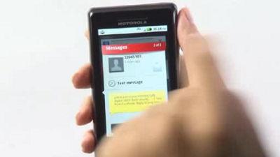 Mensajería de DROID 2 de Motorola