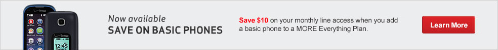 Save $10 on your monthly line access when you add a basic phone to a MORE Everything Plan