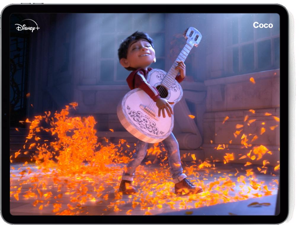 Disney Pixar Coco movie on a tablet