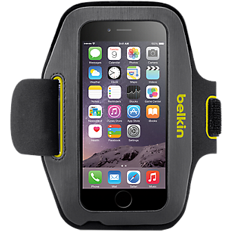 Belkin Sport-Fit Armband for iPhone 6 - Gravel/Limelight