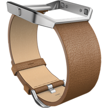 Leather Accessory Band with Frame for Blaze - Camel, Small