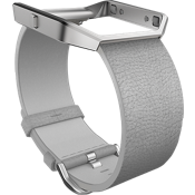 Leather Accessory Band with Frame for Blaze - Mist Grey, Large