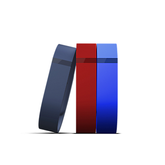 Flex 3-Pack Bands Classic (Navy, Red, Blue) Large