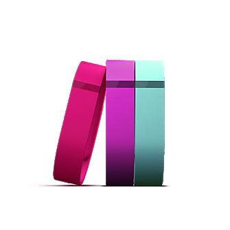 Flex 3-Pack Bands Vibrant (Violet, Teal, Pink) Large
