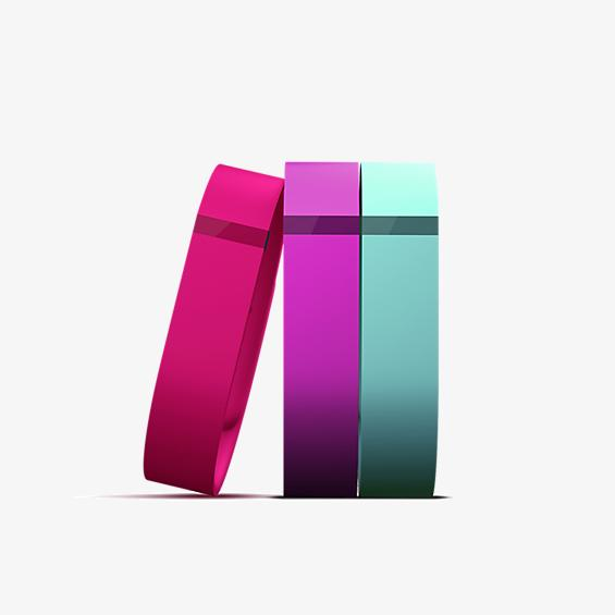 Flex 3-Pack Bands Vibrant (Violet, Teal, Pink)