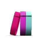 Fitbit Flex 3-Pack Bands Vibrant (Violet, Teal, Pink)