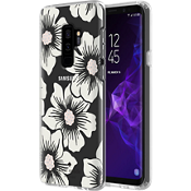Flexible Hardshell Case for Galaxy S9+ - Hollyhock Floral Clear/Cream with Stones