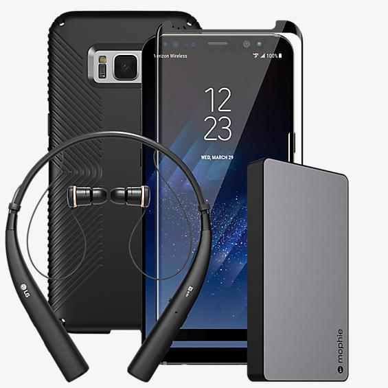 Speck Presidio Grip Power, Protection & Headset Bundle for Galaxy S8+