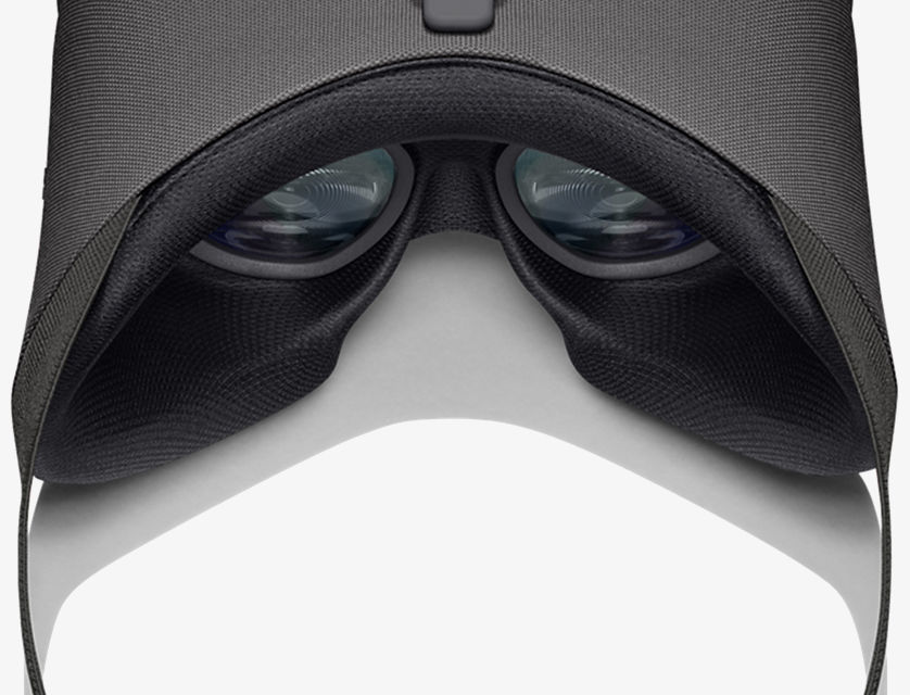 Interior view of Google Daydream View. Focus on padding and viewport