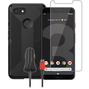 Speck Presidio Grip Case, Protection and Charging Bundle for Google Pixel 3 XL