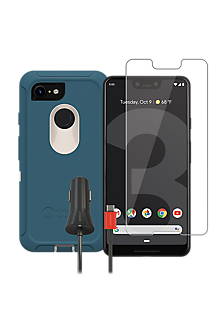 new product 618b4 0b296 OtterBox Defender Case, Protection and Charging Bundle for Google Pixel 3
