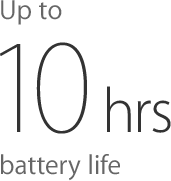 10 hours battery life